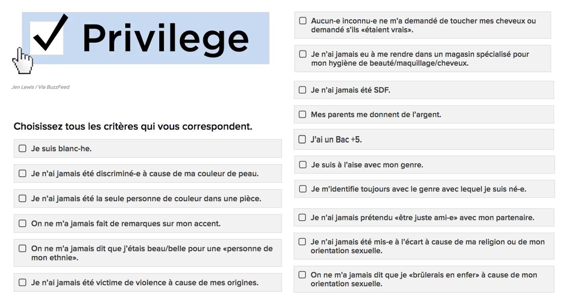 Check tes privilèges