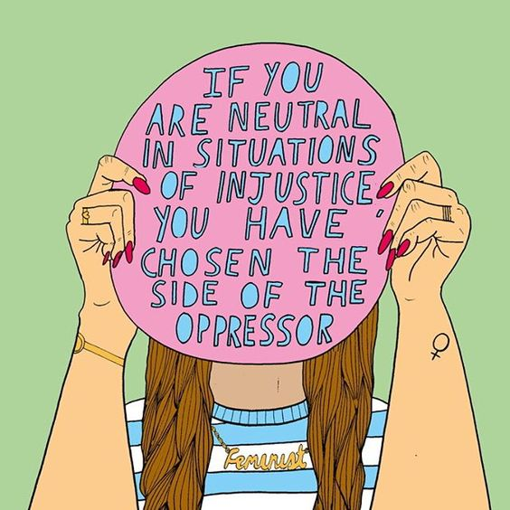 Neutral in the face of injustice