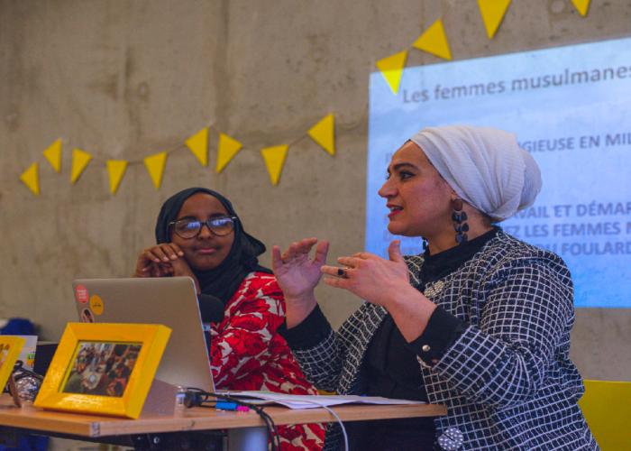 La place des femmes musulmanes face à l'emploi: Intervention de Fatiha AJBLI et Oumalkaire SULEMAN